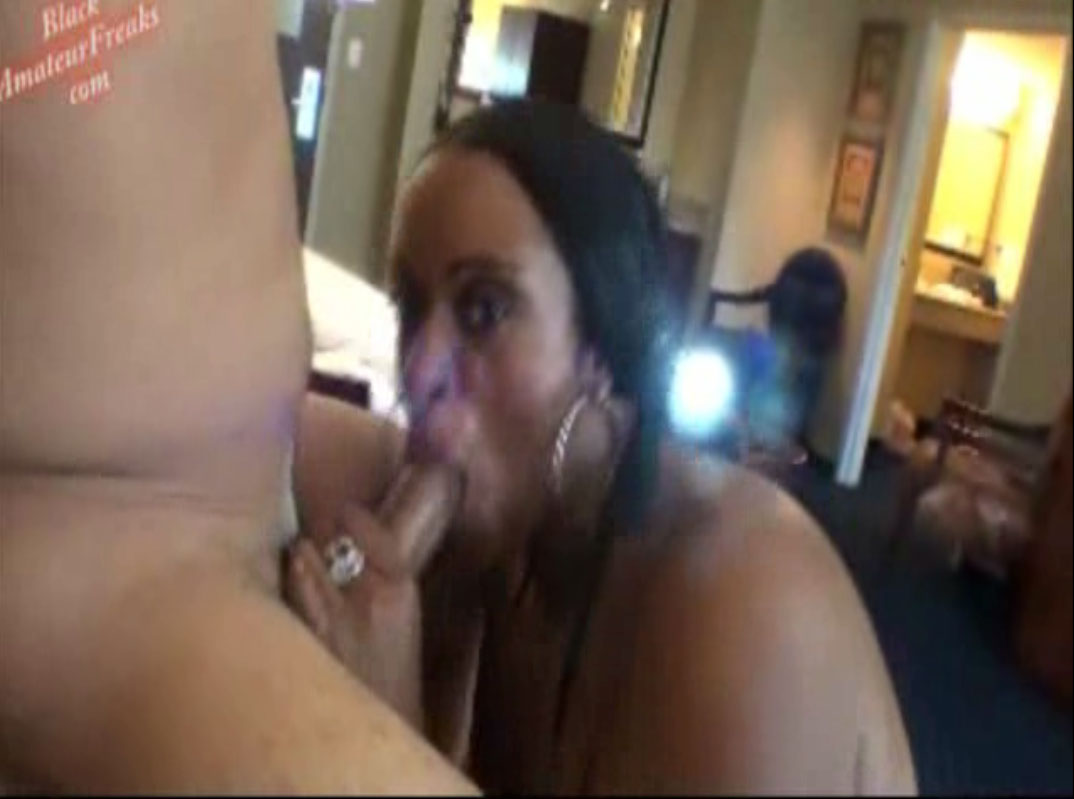 BlackAmateurFreaks Black Amateur Freak Marcia Black gives sloppy wet deepthroat blowjob to new bbc